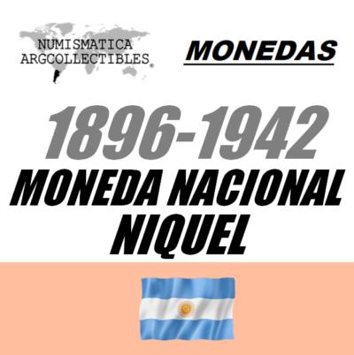 1896-1942 Mon. Nac. (Niquel)
