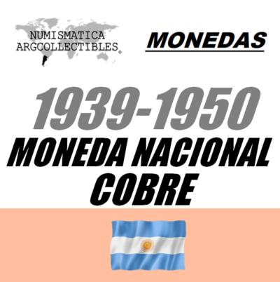1939-1950 Mon. Nac. (Cobre)