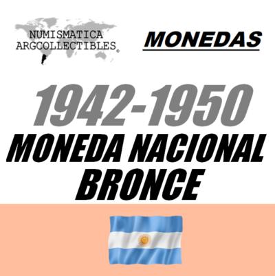 1942-1950 Mon. Nac. (Bronce)