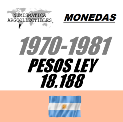 1970-1981 Pesos Ley 18.188